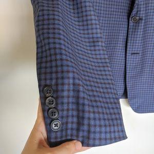 Giorgio Armani Suits & Blazers - Giorgio Armani Blue Plaid Blazer G Line Super 130s